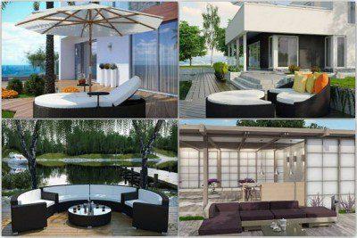 Backyard deck furniture