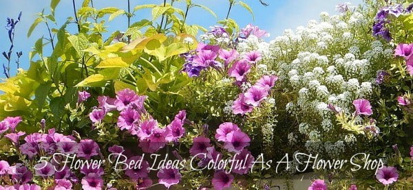 flower bed ideas and colorful backyard landscaping designs